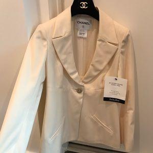 Chanel cream blazer